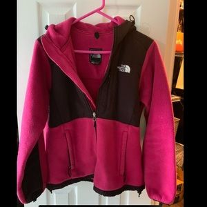 North face fleece hoodie jacket